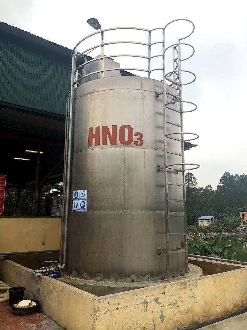 bồn chứaa axit hno3 65% 40m3